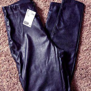 H&M faux leather leggings NWT sz 4/6 goth punk